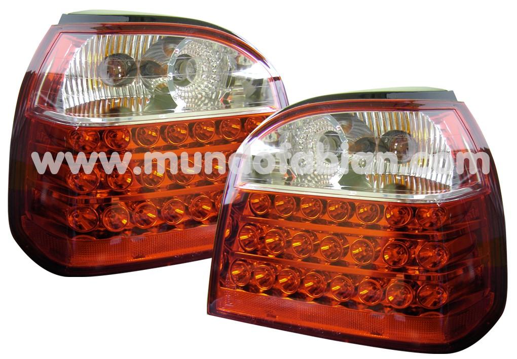 Pilotos cristal transparente/rojo leds