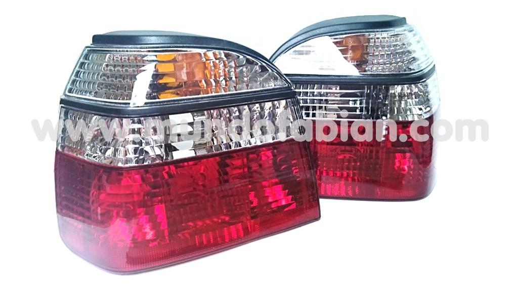 Pilotos cristal transparente/rojo
