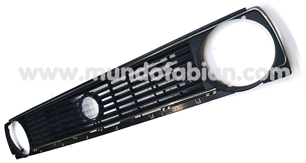 Parrilla negra monofaro para logo marco cromado