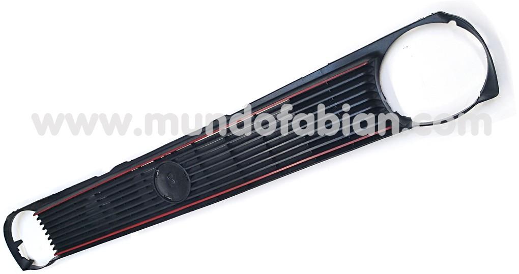 Parrilla negra monofaro para logo marco rojo