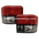 Pilotos traslúcidos negro/rojo