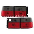 Pilotos cristal negro/rojo